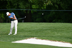 May 3, 2019 - Charlotte, NC, U.S. - CHARLOTTE, NC - MAY 03: Scott Brown plays a shot from the 11th fairway in round two of the Wells Fargo Championship on May 03, 2019 at Quail Hollow Club in Charlotte,NC. (Photo by Dannie Walls/Icon Sportswire) (Credit Image: © Dannie Walls/Icon SMI via ZUMA Press)
