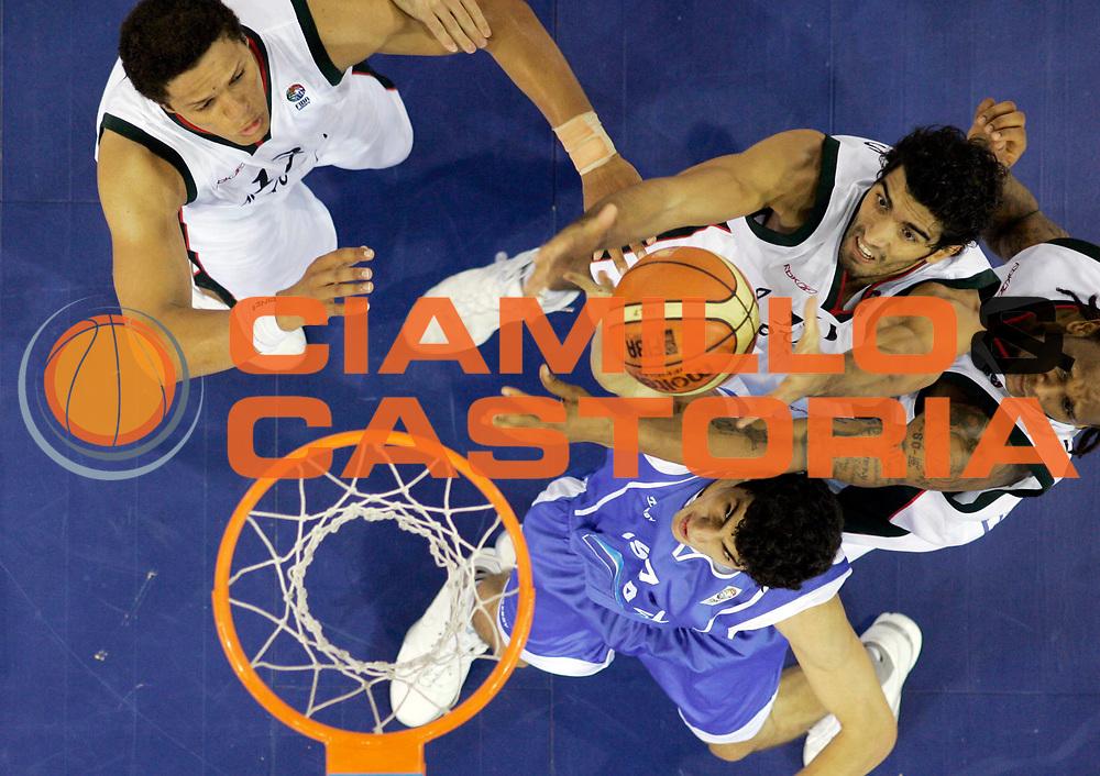 DESCRIZIONE : Madrid Spagna Spain Eurobasket Men 2007 Qualifying Round Portogallo Israele Portugal Israel <br /> GIOCATORE : Joao Santos <br /> SQUADRA : Portogallo Portugal <br /> EVENTO : Eurobasket Men 2007 Campionati Europei Uomini 2007 <br /> GARA : Portogallo Israele Portugal Israel <br /> DATA : 09/09/2007 <br /> CATEGORIA : Special <br /> SPORT : Pallacanestro <br /> AUTORE : Ciamillo&amp;Castoria/M.Kulbis <br /> Galleria : Eurobasket Men 2007 <br /> Fotonotizia : Madrid Spagna Spain Eurobasket Men 2007 Qualifying Round Portogallo Israele Portugal Israel <br /> Predefinita :