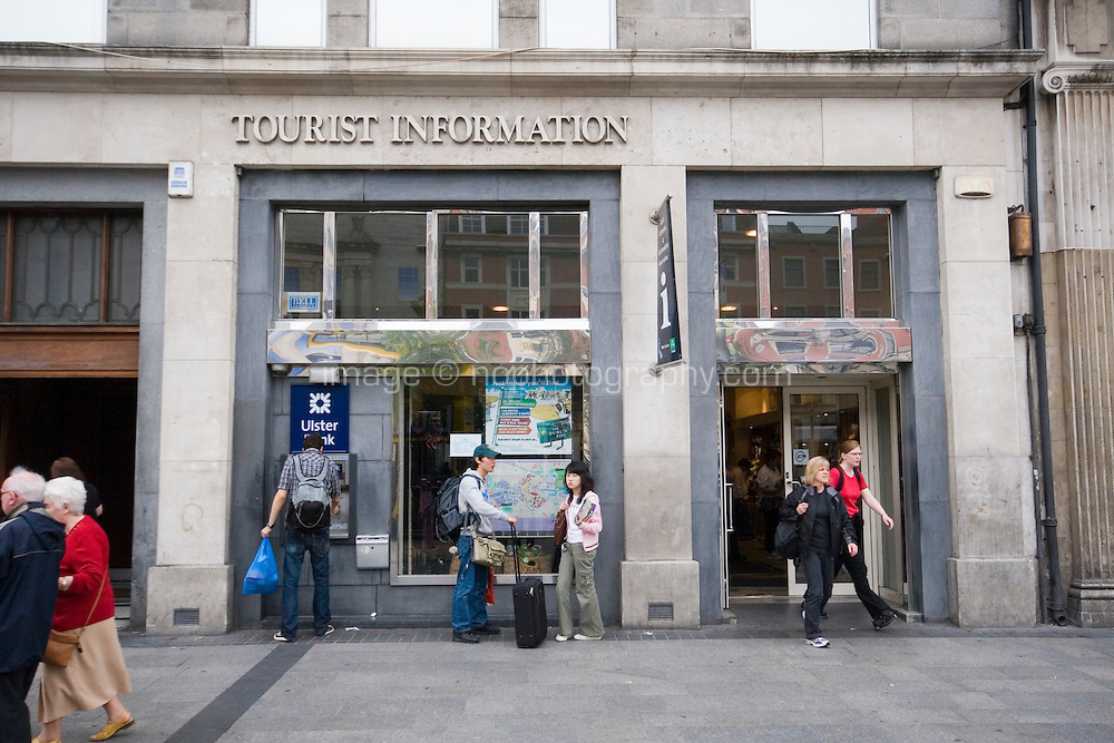 Tourist information office on O'Connell Street in Dublin Ireland