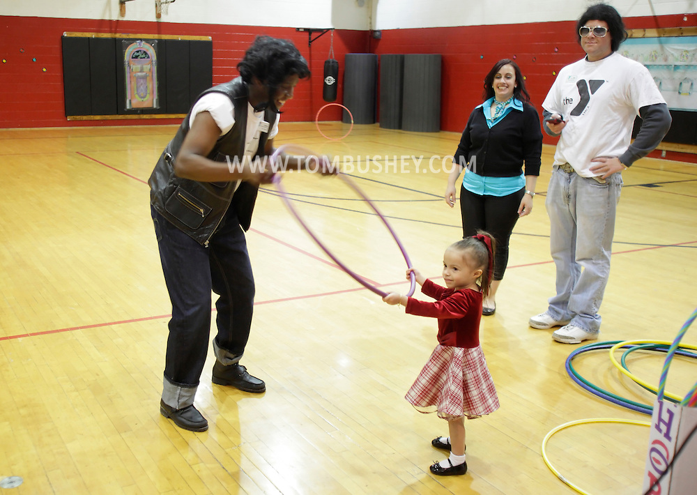Middletown, New York - Children play games at Family Night at the Middletown YMCA on April 2, 2011.