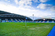 A general view of The John Smith's Stadium during the EFL Sky Bet Championship match between Huddersfield Town and Leeds United at the John Smiths Stadium, Huddersfield, England on 7 December 2019.