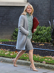 © Licensed to London News Pictures. 22/10/2019. London, UK. Esther McVey, Minister of State for Housing leaves 10 Downing Street after a Cabinet meeting this morning… As Boris Johnson tries to get his Brexit Bill through Parliament this week. Photo credit: Alex Lentati/LNP