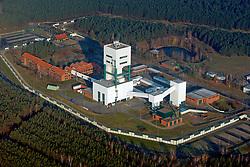 Luftaufnahme des Geländes des Bergwerks zur Erkundung eines Endlagers für hochradioaktiven Atommüll in Gorleben<br /> <br /> Ort: Gorleben<br /> Copyright: Andreas Conradt<br /> Quelle: PubliXviewinG