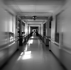 Neverending hallway in a nursing home.