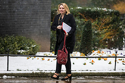 © Licensed to London News Pictures. 01/03/2018. London, UK. Secretary of State for Northern Ireland Karen Bradley on Downing Street for a meeting of the Cabinet ahead of Prime Minister Theresa May's speech on Brexit. Photo credit: Rob Pinney/LNP