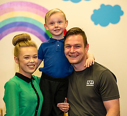 Pictured: Amy Prentice (21) Prisoner Robert Arthur (26) and their son.<br /> A new booklet was created by a group of prisoners after a Meet the Police event revealed many prisoners' children thought the police had taken their parent from them. The leaflet was launched by Mark McDonald, MSP, Minister for Childcare and Early Years at Saughton Prison, Edinburgh. The minister was joined by Scottish Prison Service chief executive Colin McConnell, PC  Tracey Gunn, Prison Link Officer Police Scotland, Nicola Ceesay, HMP Edinburgh Visitot Centre  Richard Thomas, Superintendent Police Scotland and other senior police officers<br /> <br /> <br /> Ger Harley | EEm 22 August 2016