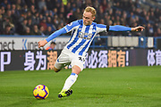 Alex Pritchard of Huddersfield Town (21) in action during the Premier League match between Huddersfield Town and Fulham at the John Smiths Stadium, Huddersfield, England on 5 November 2018.