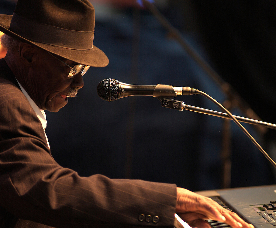 Pinetop Perkins at King Biscuit Festival Helena, Arkansas