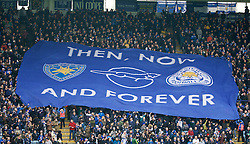 LEICESTER, ENGLAND - Saturday, February 27, 2016: Leicester City supporters' banner against Norwich City during the Premier League match at Filbert Way. (Pic by David Rawcliffe/Propaganda)