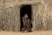 Karo Tribe Village, Omo Valley, Ethiopia, Africa