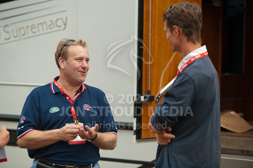 Performance Director Will Connell gives William Fox Pitt a blow by blow account of TeamGBR's success at the European Dressage Championships - European Eventing Championships 2011 - Lühmulen, Salzhausen, Germany - 23 August 2011