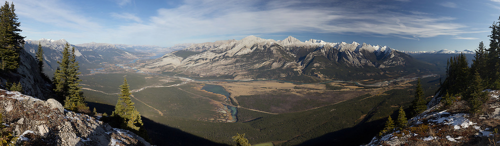 Colin Range and Athabasca Valley from the summit of the Palisades, Jasper National Park