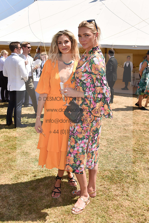 Tamsin Egerton and Jodie Kidd at the 'Cartier Style et Luxe' enclosure during the Goodwood Festival of Speed, Goodwood House, West Sussex, England. 15 July 2018.
