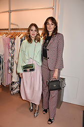 Left to right, Rosie Fortescue and Lady Violet Manners at launch of Bimba Y Lola, 295 Brompton Road, London England. 26 April 2018.