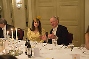 LISA HYLTON; FRED VONCK, , The Royal Caledonian Ball 2015. Grosvenor House. Park Lane, London. 1 May 2015.