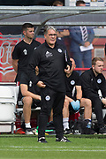 10th August 2019; Dens Park, Dundee, Scotland; SPFL Championship football, Dundee FC versus Ayr; Ayr United manager Ian McCall