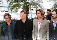 Ben Mendelsohn, Ray Liotta, Brad Pitt, Scoot McNairy,   at the Killing Them Softly photocall at the 65th Cannes Film Festival France. Tuesday 22nd May 2012 in Cannes Film Festival, France.