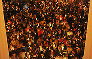 """A crowd participates in a candlelit vigil titled """"We Are One Mississippi"""" at the University of Mississippi in Oxford, Miss. on Wednesday, November 7, 2012.The vigil was in response to protests that happened on campus after President Barack Obama was re-elected.(AP Photo/Oxford Eagle, Bruce Newman)"""