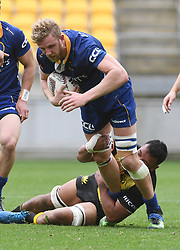 Otago's Adam Knight against Wellington in the Mitre 10 Rugby match at Westpac Stadium, Wellington, New Zealand, Sunday October 01,, 2017. Credit:SNPA / Ross Setford  **NO ARCHIVING**