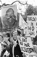 Pro-Life Rally, Parnell Square. Sunday Tribune. 25/4/92. (Part of the Independent Newspapers Ireland/NLI Collection)