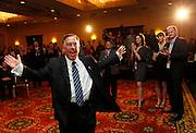 Utah Democratic Senatorial candidate Sam Granato thanks supporters prior to his concession speech at an election rally in Salt Lake City, Tuesday, November  2, 2010. Granato lost to Republican Mike Lee. (AP Photo/Colin E Braley)