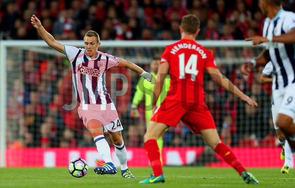 Darren Fletcher of West Bromwich Albion in action - Mandatory by-line: Matt McNulty/JMP - 22/10/2016 - FOOTBALL - Anfield - Liverpool, England - Liverpool v West Bromwich Albion - Premier League