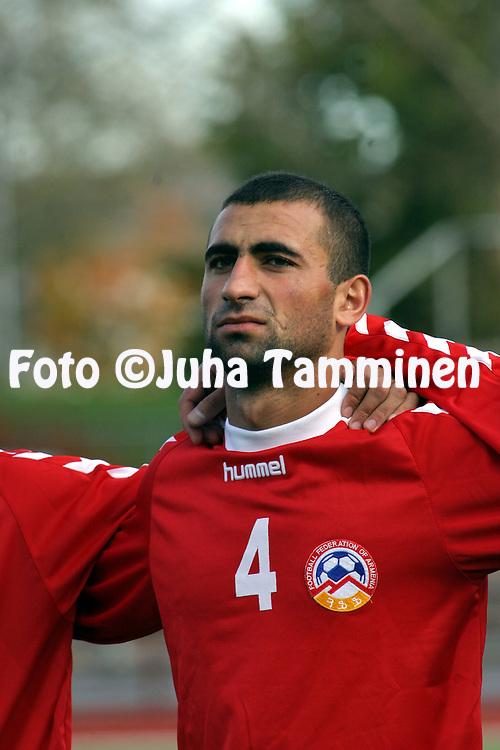 09.10.2004, Pori, Finland..UEFA Under-21 European Championship qualifying match, Finland v Armenia.Arman Minasyan - Armenia.©Juha Tamminen.....ARK:k