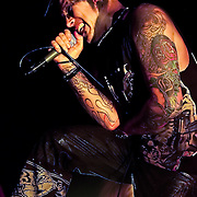 Andy LaPlegua Combichrist performs at The Glasshouse in Pomona, California USA