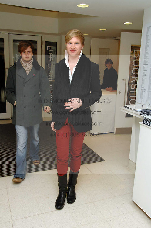 HENRY CONWAY at a party to celebrate the publication of Vivienne Westwood's Opus held at The Serpentine Gallery, Kensington Gardens, London W2 on 12th February 2008.<br /><br />NON EXCLUSIVE - WORLD RIGHTS