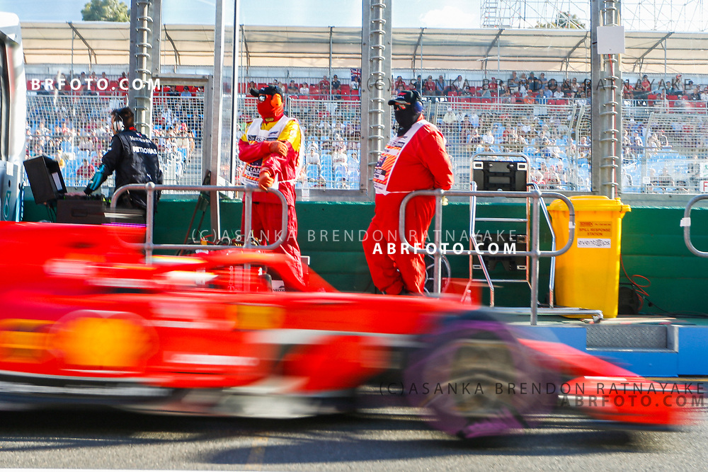 Fire marshall look on from pit lane on Friday during free practice 2 of the 2018 Rolex Formula 1 Australian Grand Prix at Albert Park, Melbourne, Australia, March 23, 2018.  Asanka Brendon Ratnayake