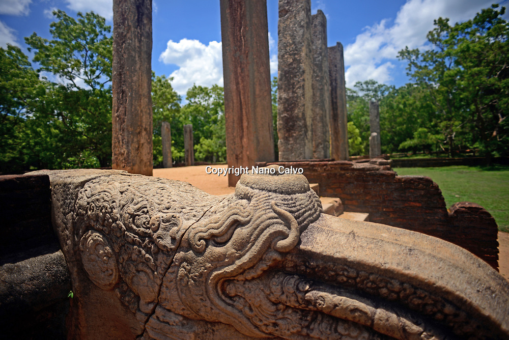 Ratnaprasada or Jewel Palace ruins in Anuradhapura, Sri Lanka