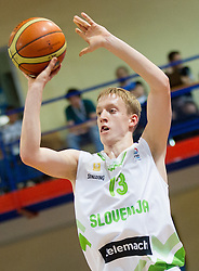 Miha Lapornik of Slovenia during basketball match between National team of Slovenia and Italy in First Round of U20 Men European Championship Slovenia 2012, on July 12, 2012 in Domzale, Slovenia.  Slovenia defeated Italy 81-68. (Photo by Vid Ponikvar / Sportida.com)