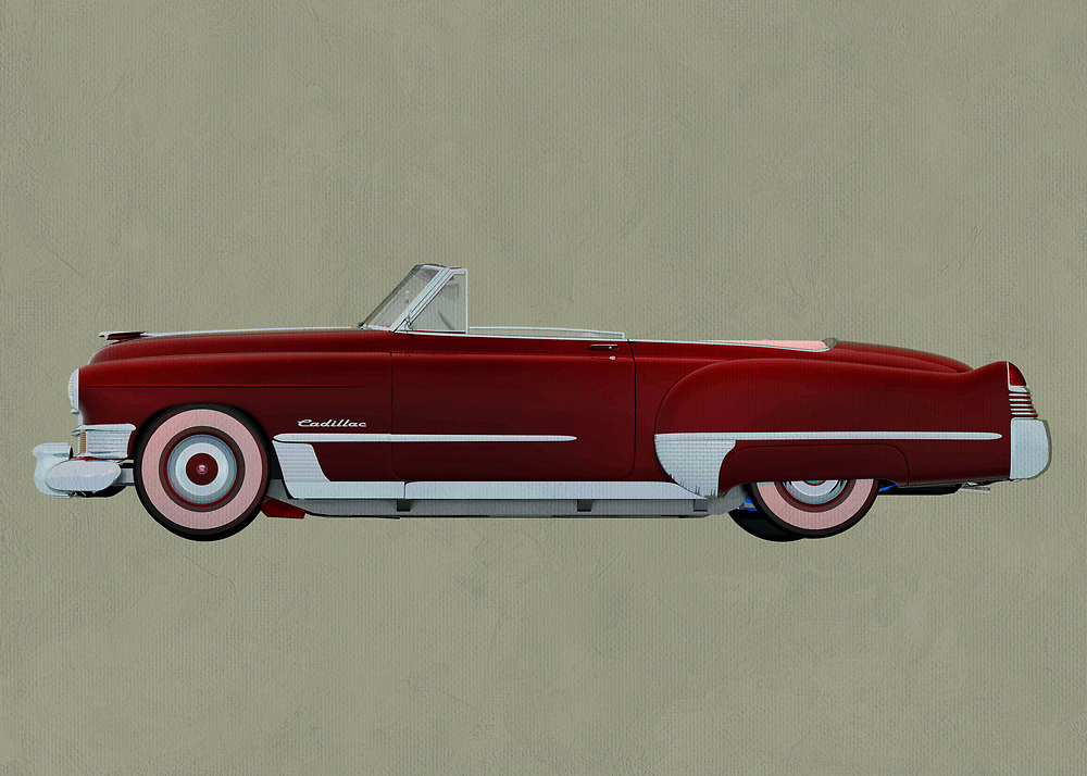 Cadillac Deville Convertible<br /> Cadillac is a car that takes people back to a simpler time. This Cadillac Deville is also a convertible, which in turn brings to mind the thrill and lure of a long road trip on a gorgeous day. This digital painting can make for a fine addition to any personal or professional space you have .