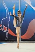 Alice Capozucco  from Armonia D'Abruzzo team during the Italian Rhythmic Gymnastics Championship in Padova, 25 November 2017.