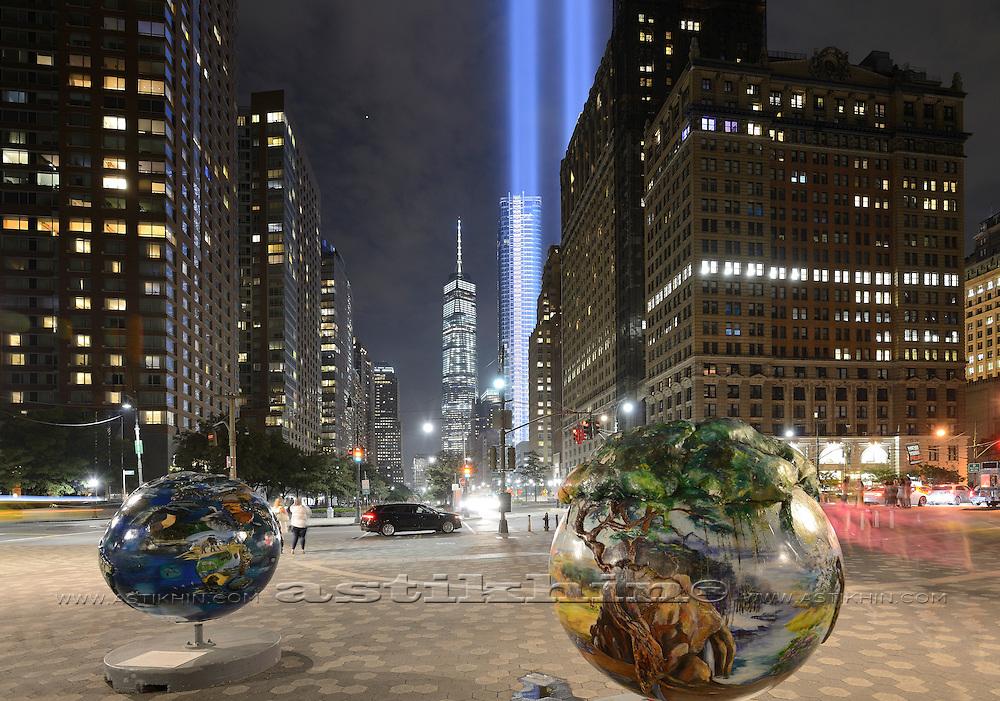 Battery Park New York City at 9.11.2016.