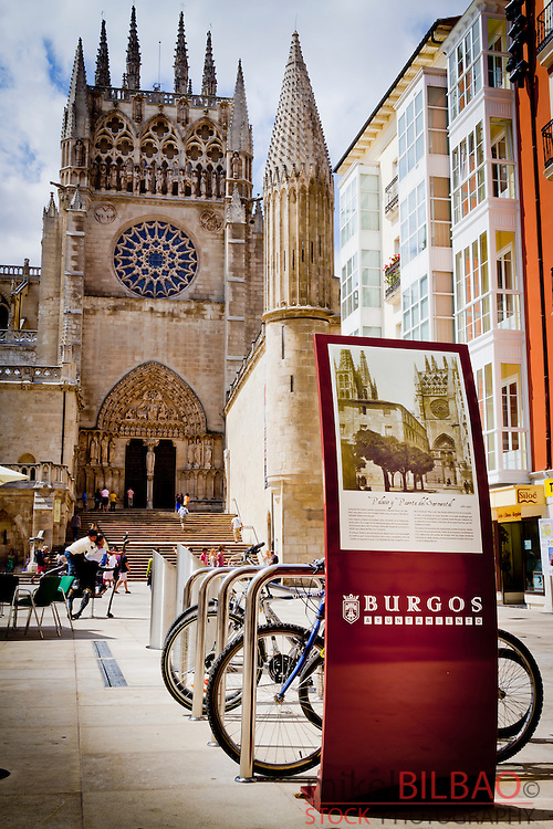 Cathedral view. Burgos city.<br />