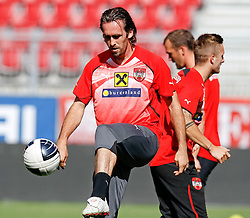 09.08.2011, Wörthersee-Arena, Klagenfurt, AUT, OEFB Training, im Bild Christian Fuchs (AUT) // during a Trainingssession of the Nationalteam from Austria, Wörthersee Arena, Klagenfurt, 2010-08-09 , EXPA Pictures © 2011, PhotoCredit: EXPA/ O. Hoeher