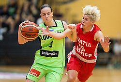 Nika Baric of Slovenia vs Lana Packovski of Croatia during friendly basketball match between Women National teams of Slovenia and Croatia before FIBA Eurobasket Women 2017 in Prague, on June 1, 2017 in Celje, Slovenia. Photo by Vid Ponikvar / Sportida