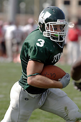 09 September 2006 Titan All American Eric Esch...In the first ever football competition between the Olivet Comets and the Illinois Wesleyan Titans, the Titans strut off the field with a 21- 6 victory. .Game action took place at Wilder Field on the campus of Illinois Wesleyan University in Bloomington Illinois.