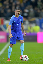 November 14, 2017 - Bucharest, Romania - Steven Berghuis (Rom) during International Friendly match between Romania and Netherlands at National Arena Stadium in Bucharest, Romania, on 14 november 2017. (Credit Image: © Alex Nicodim/NurPhoto via ZUMA Press)