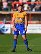 Ben Turner (25) of Mansfield Town during the EFL Sky Bet League 2 match between Exeter City and Mansfield Town at St James' Park, Exeter, England on 30 March 2019.