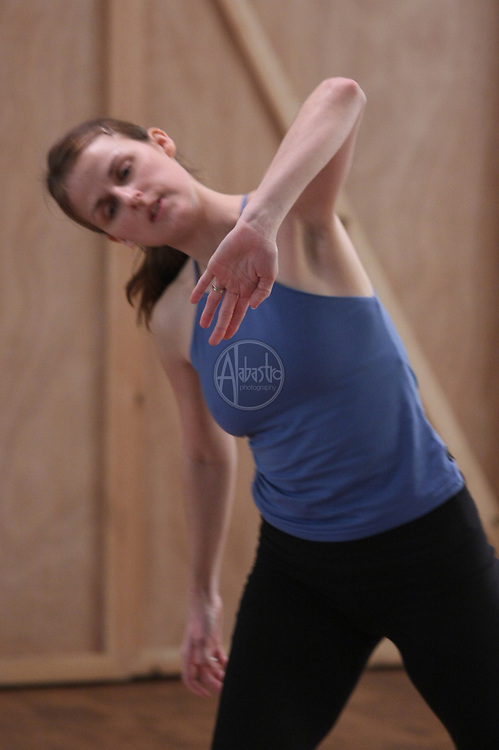 Karin Stevens Dance Company during rehearsal at Fremont Abbey in Seattle, WA.