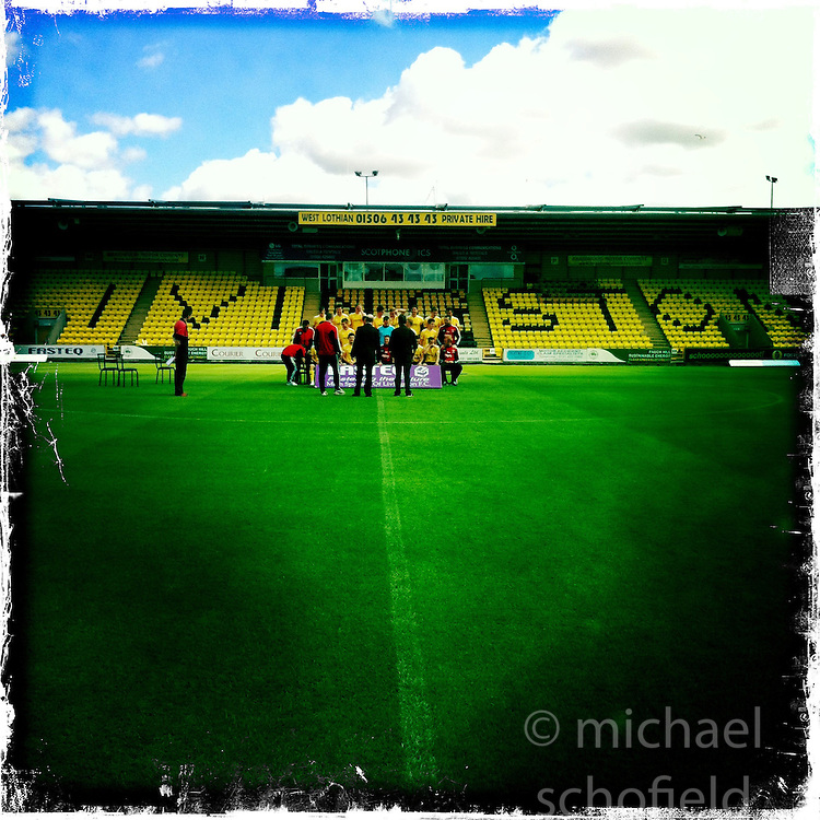 Livingston FC..Hipstamatic images taken on an Apple iPhone..©Michael Schofield.
