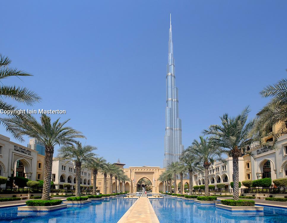 Burj Khalifa tower in Downtown Dubai United Arab Emirates