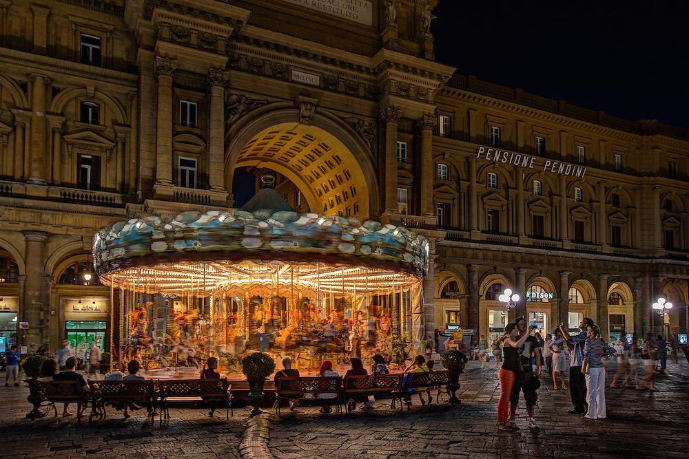 Carousel in Piazza della Repubblica, Florence