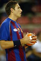 Håndball, 26. oktober 2002. Spanske eliteserie, Barcelona - Galdar 32-25. Glenn Solberg.