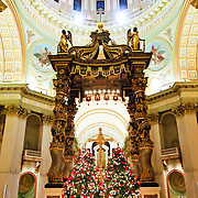 Mary, Queen of the World Cathedral in downtown Montreal, Canada, is the seat of the Roman Catholic archdiocese of Montreal and is the third largest church in Quebec.