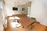 Conference table and chairs in office