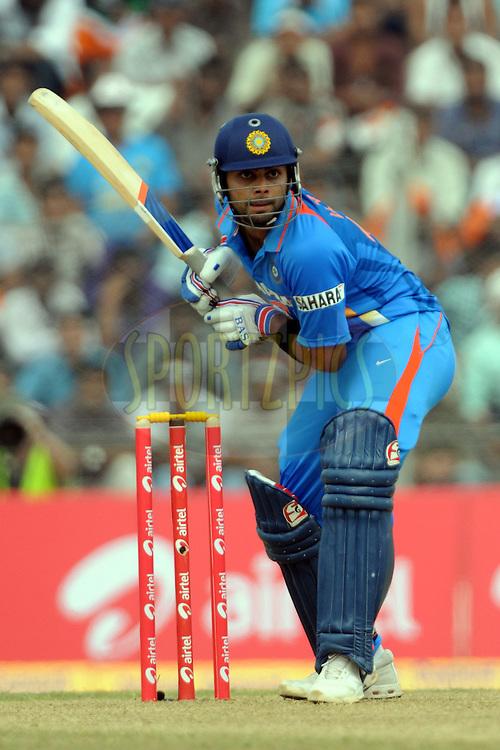 Virat Kohli of India bats during the 1st ODI (One Day International) held at the Nehru Stadium in Guwahati, Assam, India on the 28 th November 2010.Photo by Pal Pillai/BCCI/SPORTZPICS