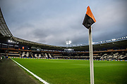 A general view from the corner flag inside the KCOM Stadium prior to the The FA Cup match between Hull City and Chelsea at the KCOM Stadium, Kingston upon Hull, England on 25 January 2020.